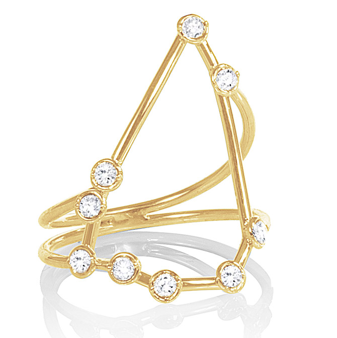 Jessie V E Constellation Capricorn ring