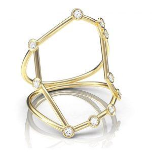 Jessie V E Gemini ring
