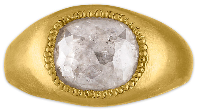 Prounis ice diamond Roz ring