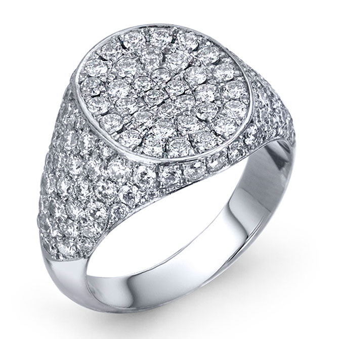 Lafia Jewellery Classic diamond signet ring