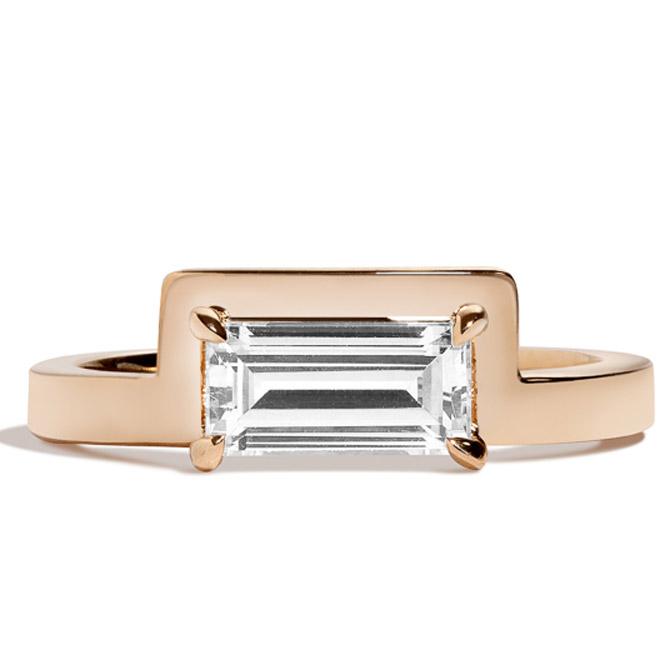 Shahla Karimi Mies baguette ring