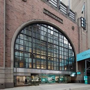 Tiffany temporary store exterior