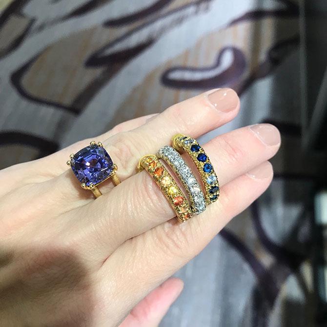 Aaron Henry tanzanite ring