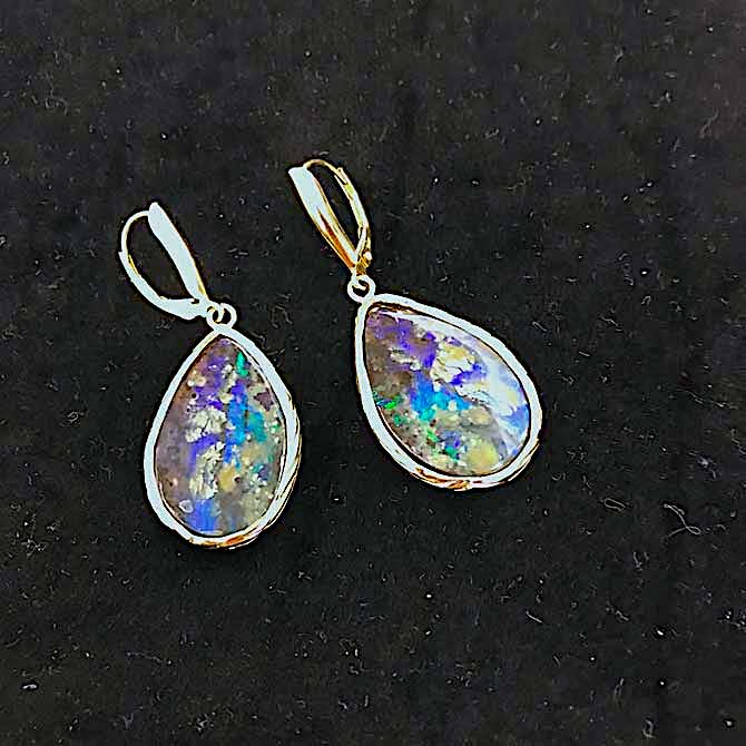 Alexis Barbeau opal earrings
