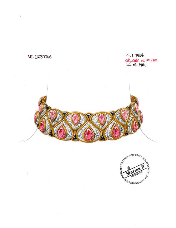 Archival Marina B Cristina necklace