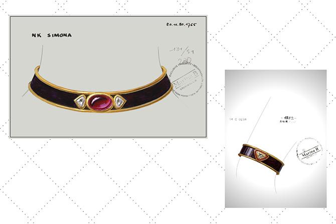Archival Marina B Simona jewelry