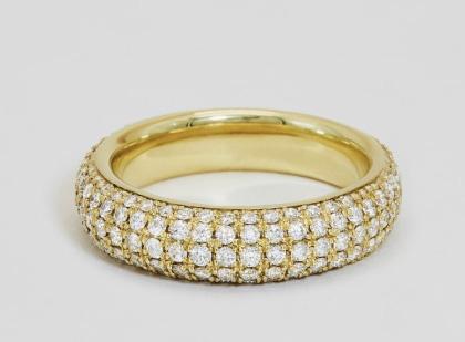 Ceremony diamond pave ring