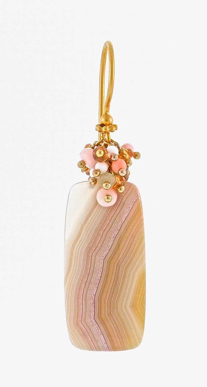 Dana Busch Coyamito agate earring