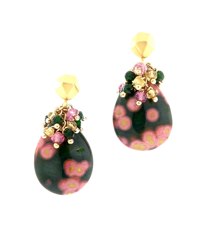Dana Busch blossoming plumeria earrings