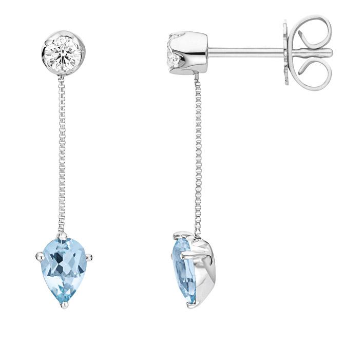 Wempe aquamarine drop earrings
