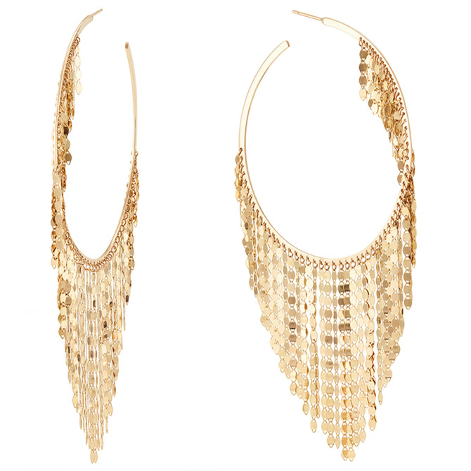 Lana Jewelry 60 mm fringe hoops