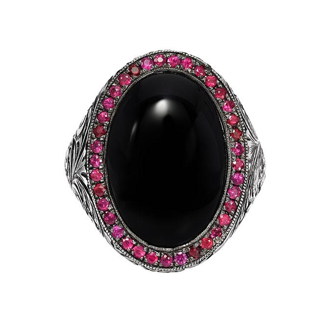 Edward Avedis onyx ring