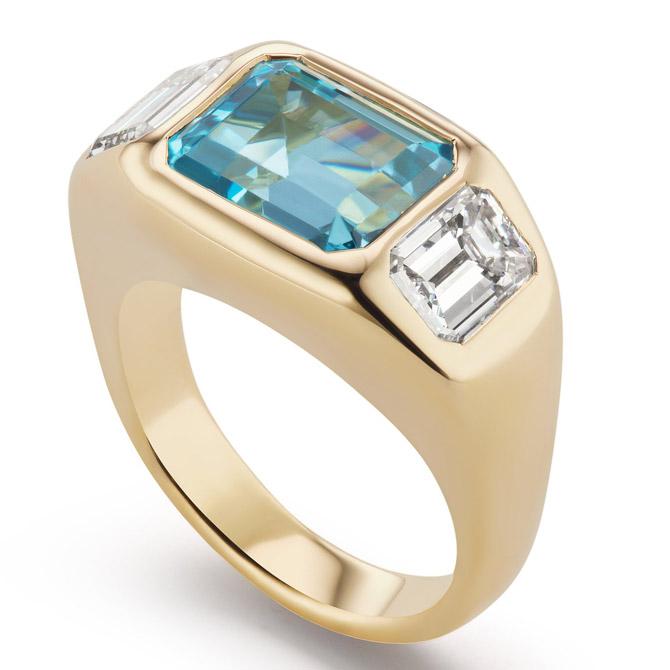 Brent Neale aquamarine gyspy ring
