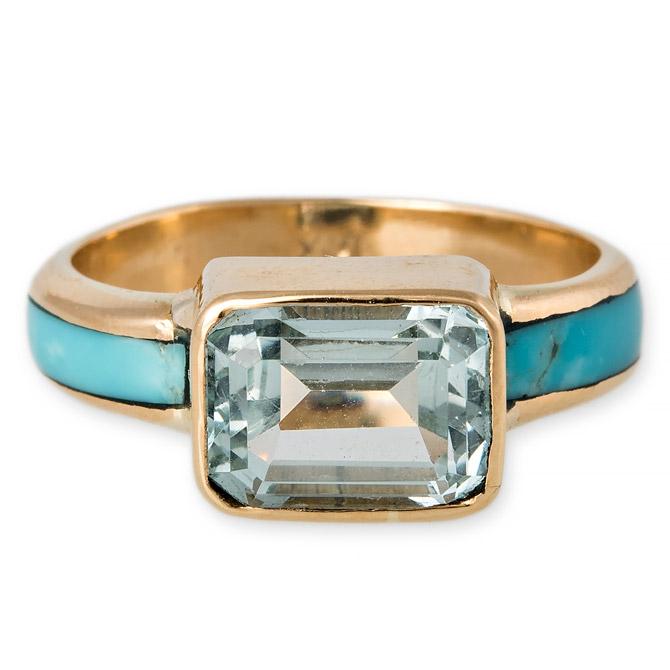 Jacquie Aiche aquamarine ring