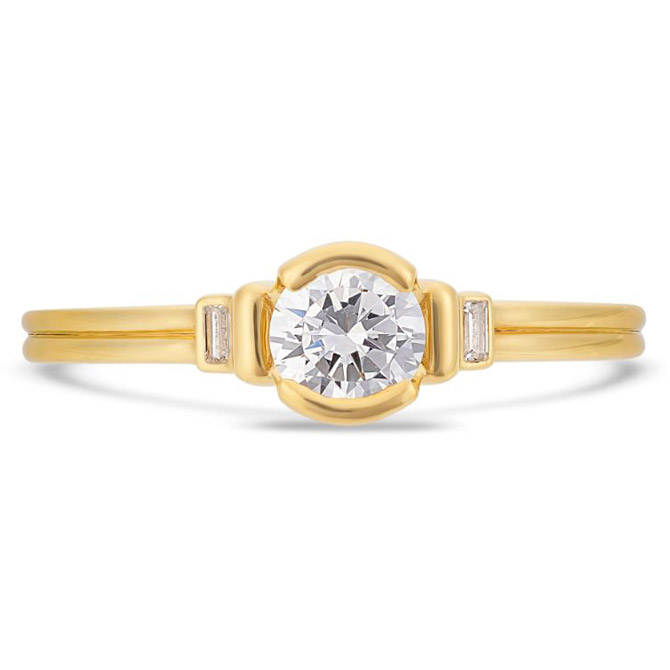 V by Laura Vann Deco engagement ring