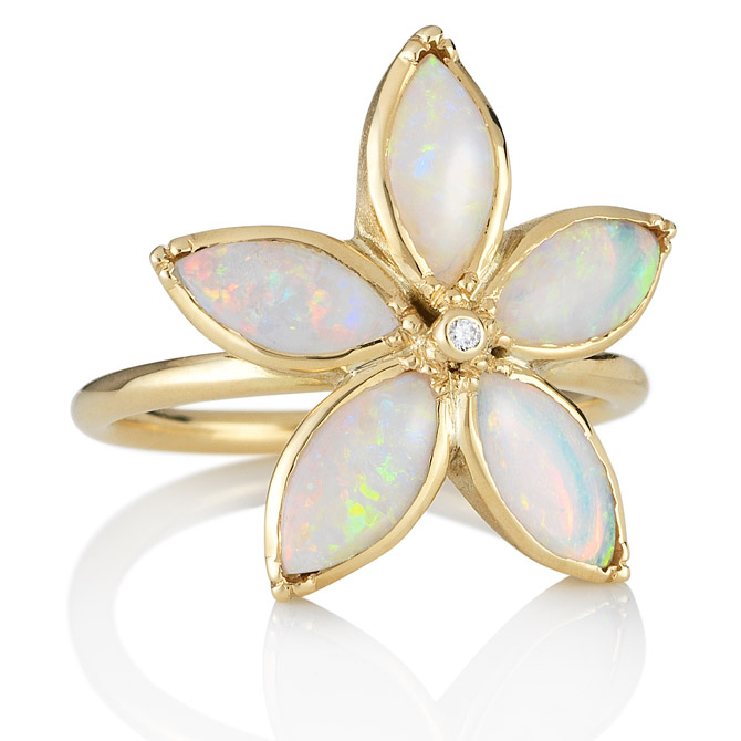 Brooke Gregson opal flower ring