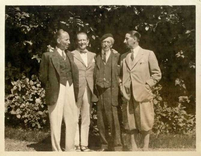 Three Cartier Brothers and father