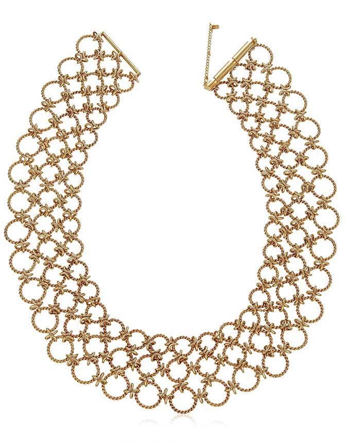 Verdura Lace gold necklace