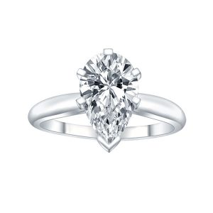 ALTR pear shape solitaire engagement ring