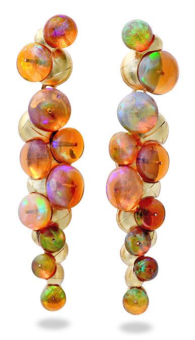 Adam Foster Ethiopian opal bead earrings