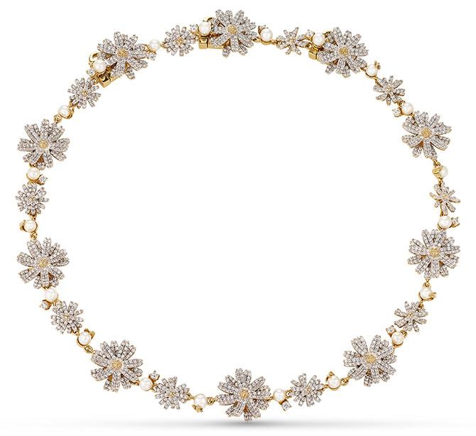 Anabela Chan daisy diamond choker