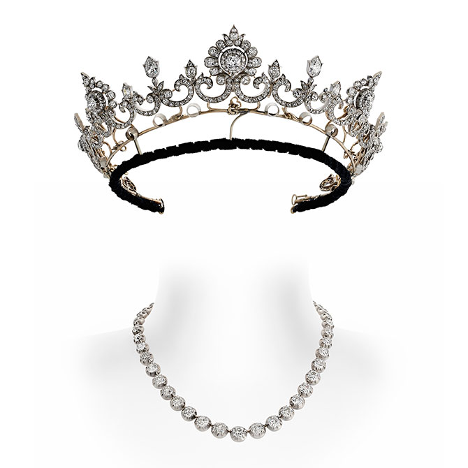 Anglesey tiara with riviere attachment