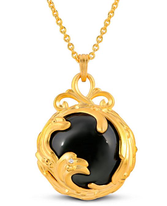 Ary D Po black agate pendant