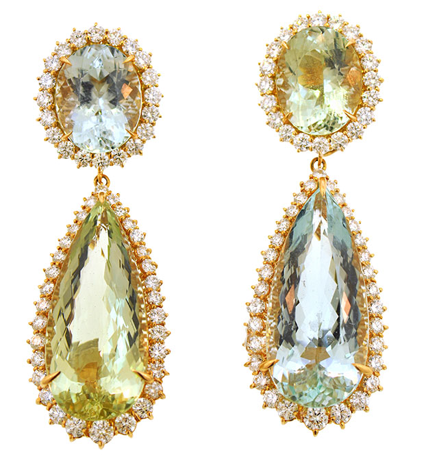 Basta aqua beryl earrings