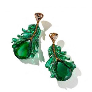 Cindy Chao plumule earrings