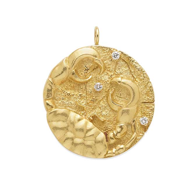 Diahann Carroll cancer zodiac medallion