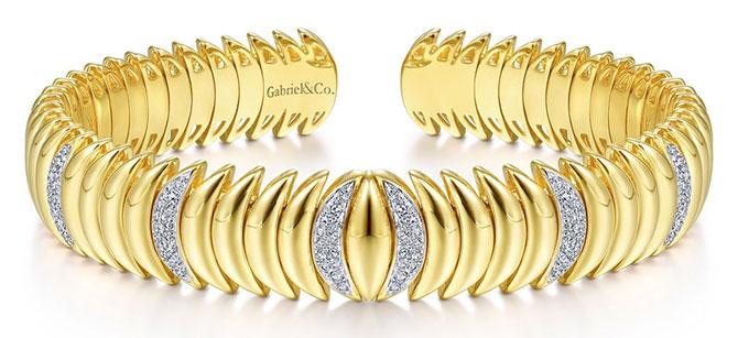 EI choice Gabriel gold diamond bracelet
