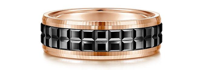 EI choice Gabriel rose gold black band