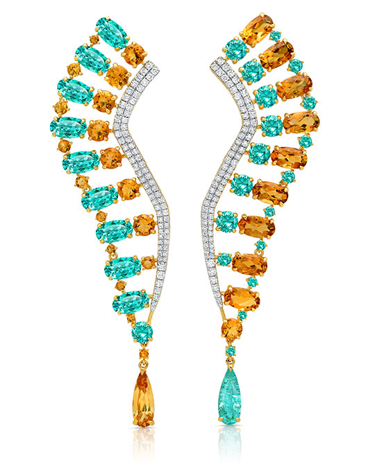 EI choice Graziela citrine tourmaline earrings