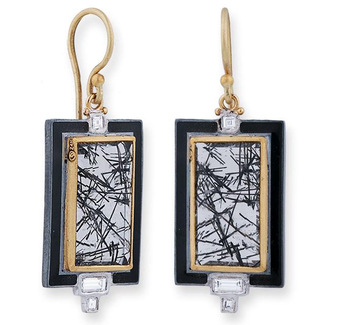 EI choice Lika Behar rutilated quartz earrings