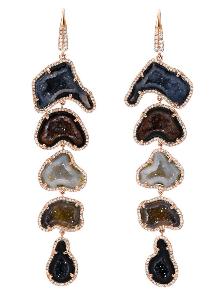 EI choice Liven Co geode cascade earrings
