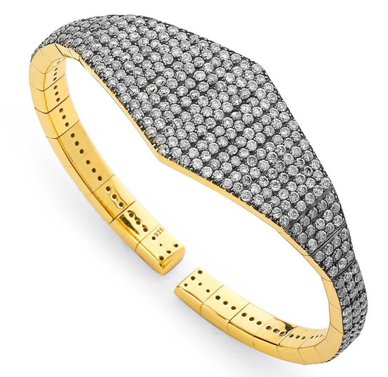 EI choice Nadri Jewelry silver diamond cuff