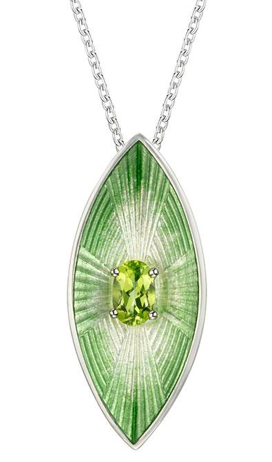 EI choice Nicole Barr green goddess pendant