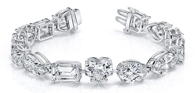 EI choice Norman Silverman fancy shape diamond bracelet