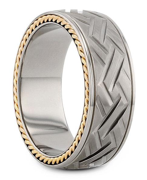EI choice Thorsten titanium crosshatch band