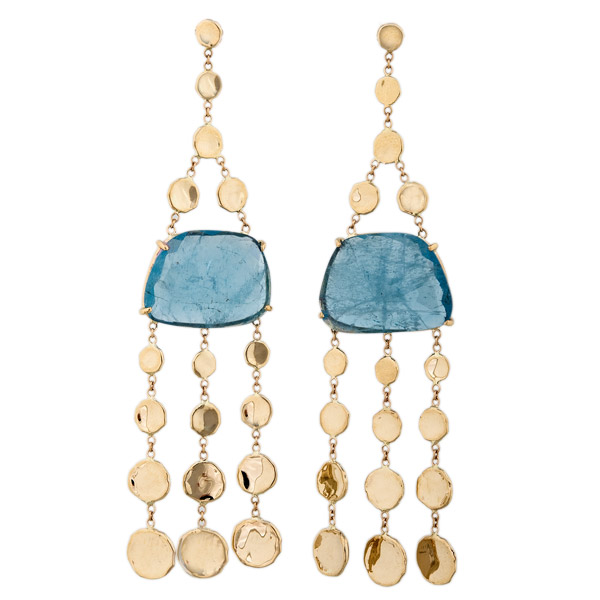 Jacquie Aiche aquamarine shaker earrings