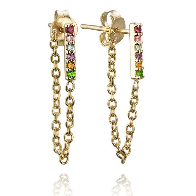 Lafia Jewellery rainbow chain earrings