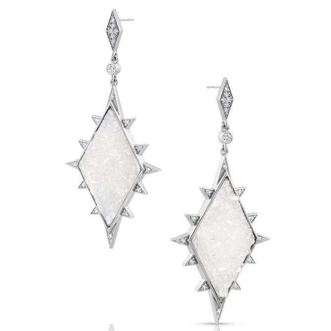 M. Spalten Ice earrings