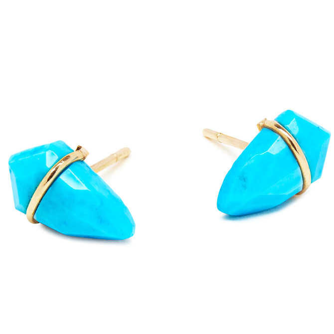 Page Sargisson turquoise small Kite earrings