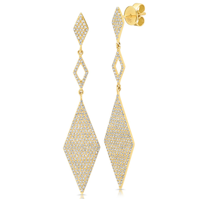 Shy Creation kite earrings