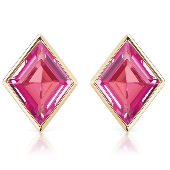 Sorellina Pietra pink topaz stud earrings