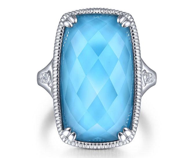 Gabriel silver Victorian ring