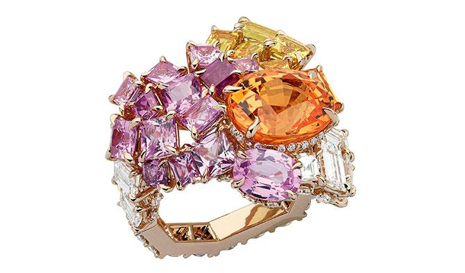Gem Dior garnet sapphire ring