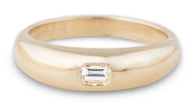 Jacquie Aiche asscher cut diamond dome ring