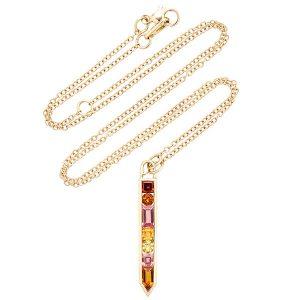 Jane Taylor cirque vertical arrow necklace