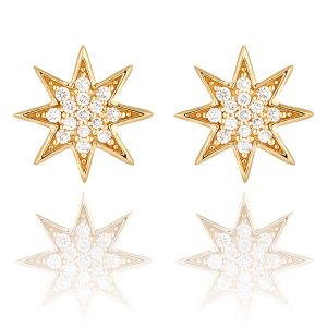 Lark & Berry Star lab-grown Diamond Pavé Stud Earrings $585